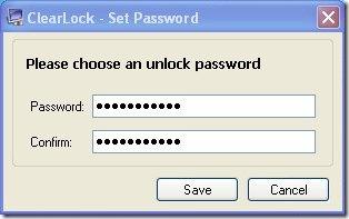 clear lock set password lock computer