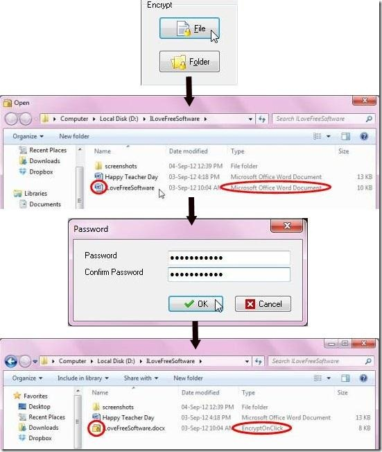 encryptonclick encrypted file