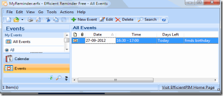 Efficient reminder free reminder software