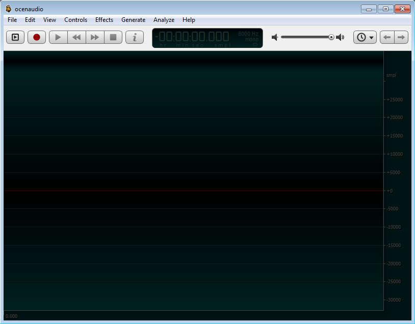ocenaudio default window
