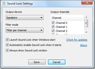 sound lock properties