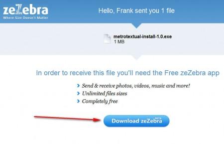 zeZebra receiving file