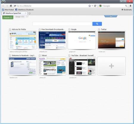 Alienforce free web browser default window