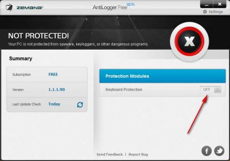 Anti-Logger Free turn on encryption