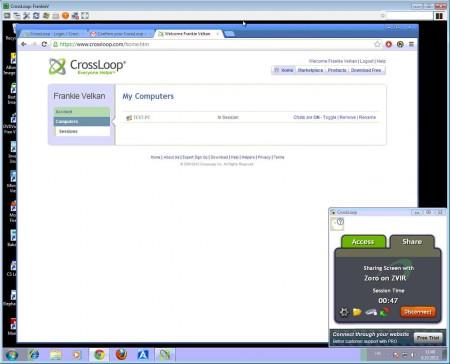 CrossLoop Remote Access remote access