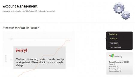 Defensio Facebook account management