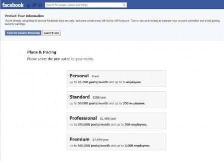 Defensio Facebook choosing plan