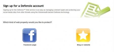 Defensio anti-spam default window