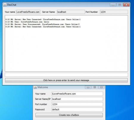DexChat client working