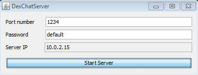 DexChat start server