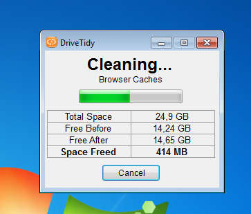 DriveTidy disk cleanup