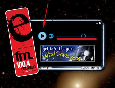EFM Radio Player controls