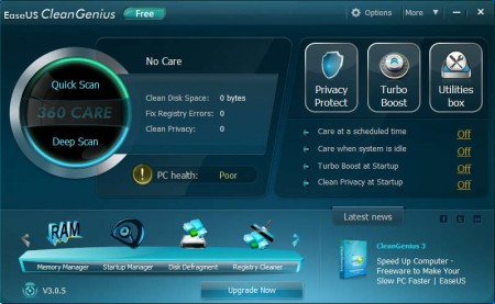 EaseUS System cleanup software