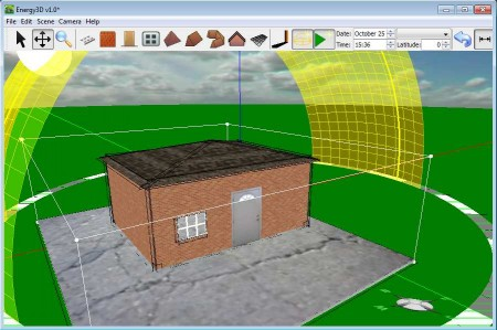Energy3D finished building 3D