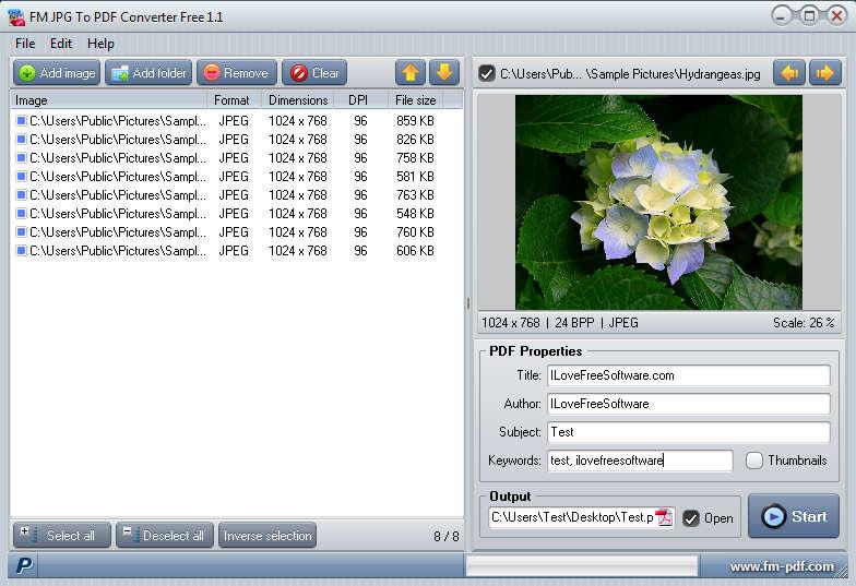 FM JPG To PDF Converter Free: Convert JPG Images To PDF