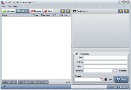 FM JPG to PDF Converter Free default window