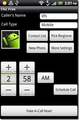 Fake A Call App