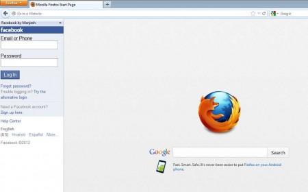 Facebook plugin for Firefox