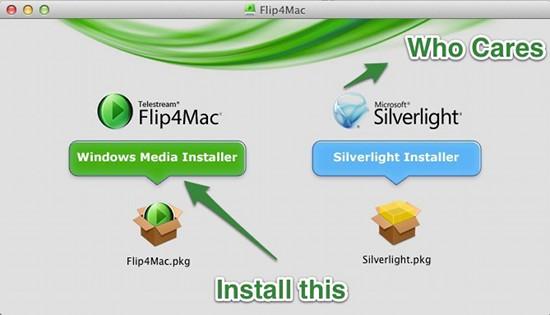 Flip4Mac installation