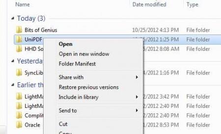 Folder Manifest to create a list of files in a folder