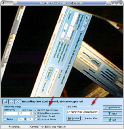 GIFShot recording GIF