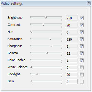 GIFShot video settings