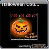 Halloween countdown clock interface