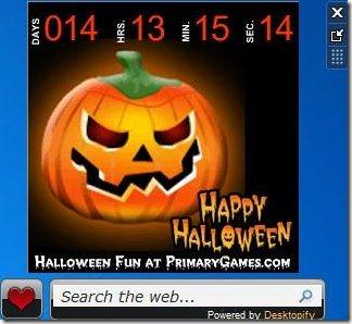 Halloween countdown clock timer