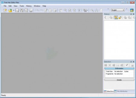 Free Hex Editor Neo default window