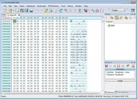 Hex Editor Neo opened file