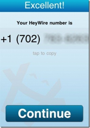 HeyWire USA Number