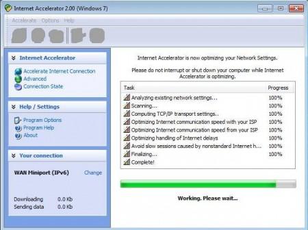 Internet Accelerator setting up everything