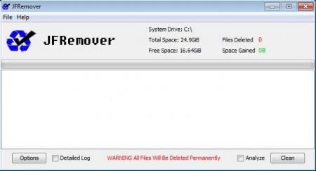 JFRemover system cleanup software