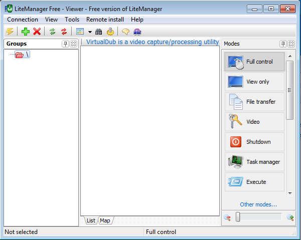 LiteManage Free default window