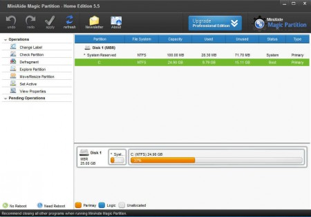 free partition manager default window