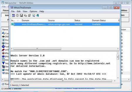 NirLauncher internet tools