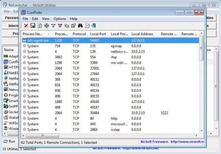 NirLauncher network tools