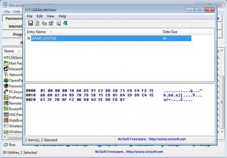 NirLauncher password tools
