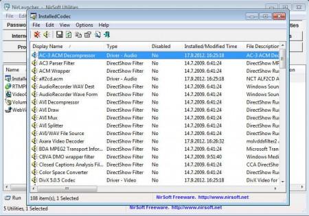 NirLauncher video audio tools