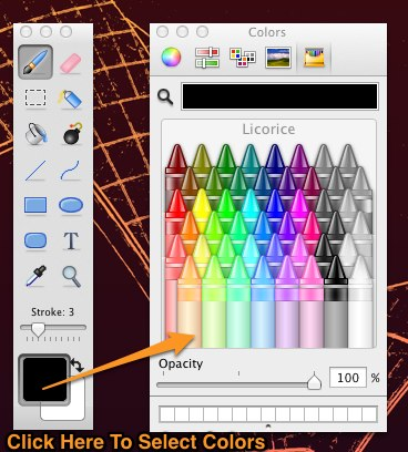 Paintbrush how to select colors