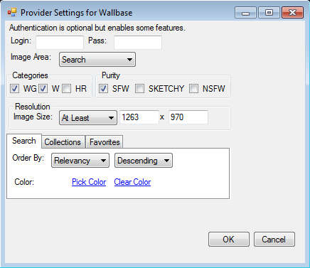 Pulse wallbase settings