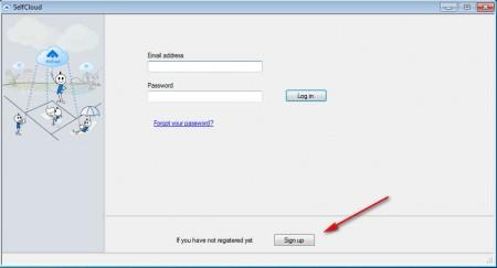 SelfCloud register account