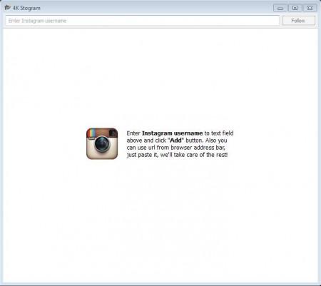 Stogram to download Instagram photos defult window