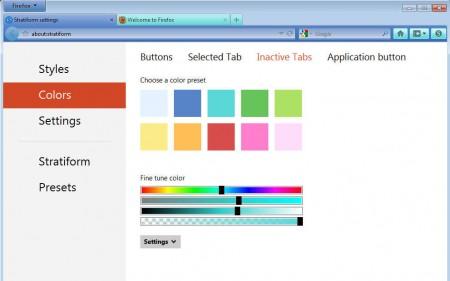 Stratiform to Customize Firefox default window