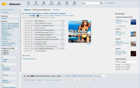 Subsonic free music streaming