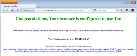 Tor TorBrowser screenshot