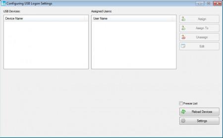 VSUsbLogon USB logon software default window