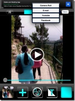 Video Editor save and share