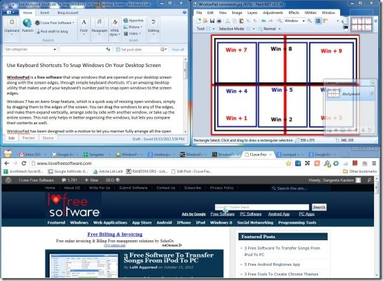 WindowPad to snap windows