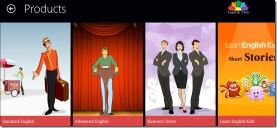 Windows 8 English Learning